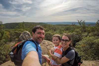 Hiking in Harriman State Park