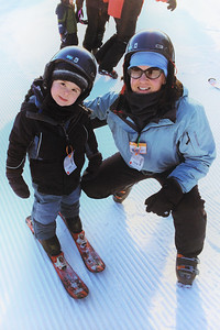 Nate's first ski weekend, and Daddy's too, at Bellayre, NY