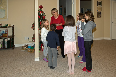 "Nana giving instructions for ""Amazing Race for Christmas"""