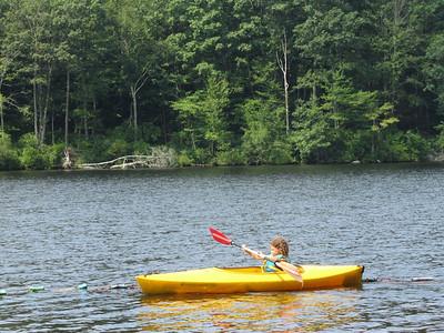 Haley loves the kayak!