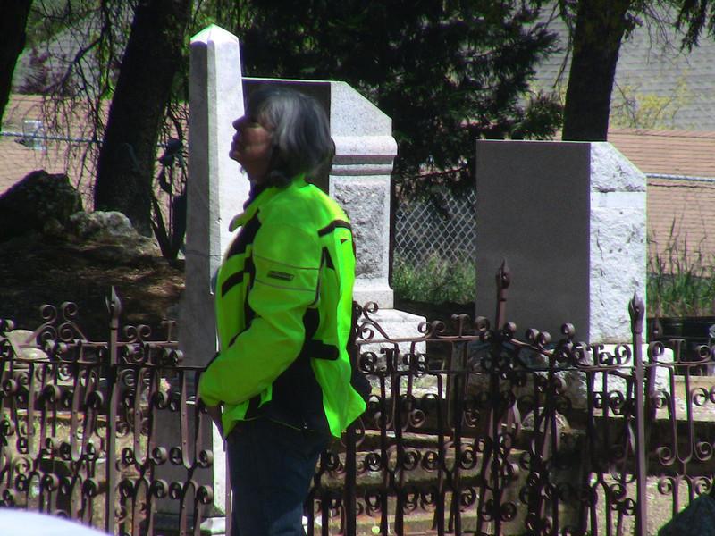Sasha at Plymouth cemetery