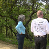 Sasha and Tim at Marshall's monument, Coloma, CA