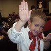 JAYDIE IS DOING A KARATE MOVE AT HIS CHRISTMAS PROGRAM...ADORABLE!!