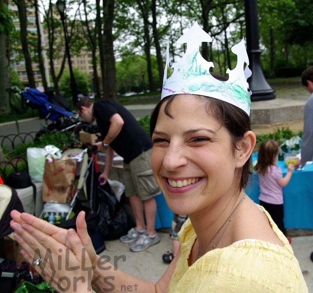 Mommy celebrates, too!