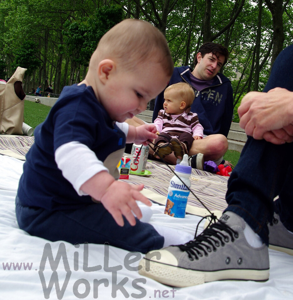 Jonah learns to tie shoes at a young age