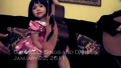 1/22/2011 - Gabrielle Sings, Dances and Plays with Grandma