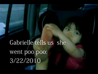 3/22/2010 - Explaining that her diaper is dirty - :)