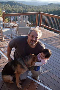 Daddy, Gabrielle and Ariel-the-Dog in Idyllwild doing astrophotraphy and loving life.