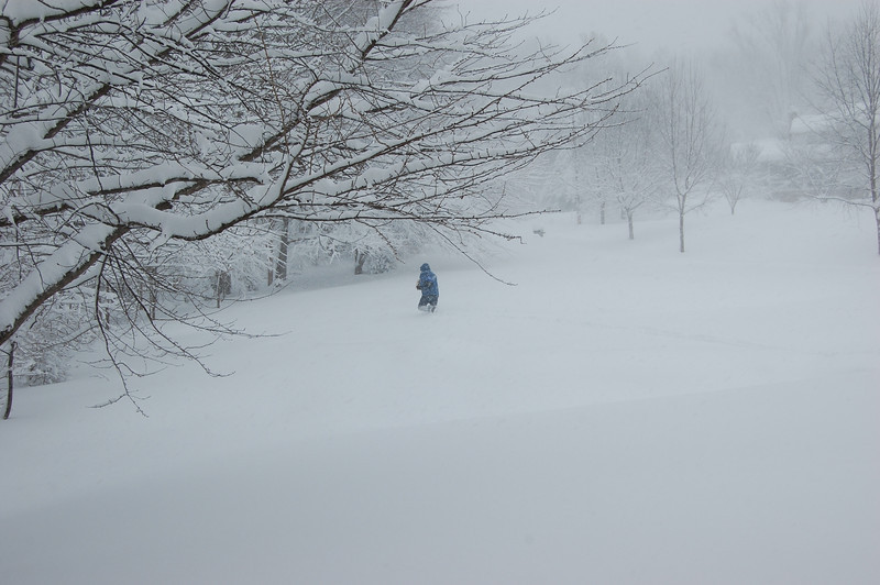 Darius braves the blizzard to visit his mom in the nursing home a mile away.