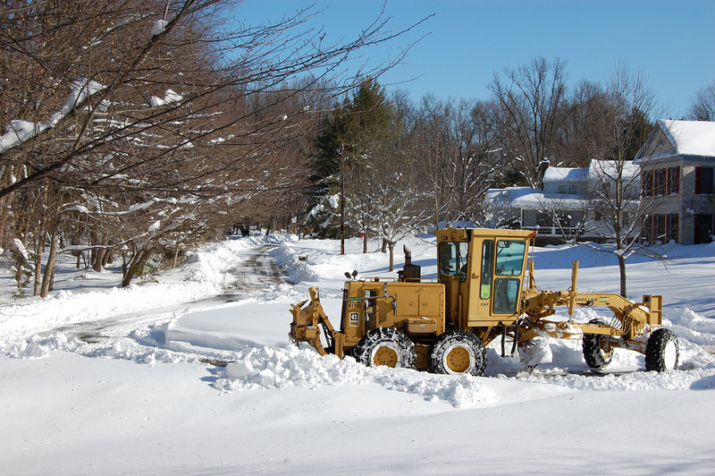 Wow, finally! On Thursday, Feb. 6, a snowplow finally made it to our street.