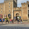Entrance to Cardiff Castle.