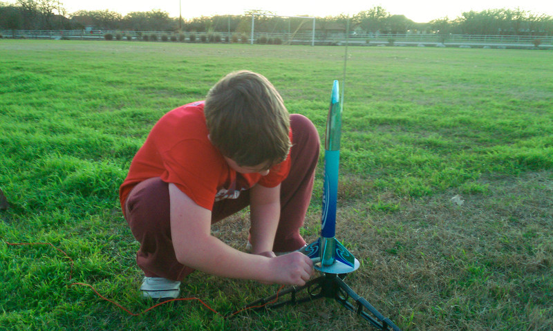 We were launching Rockets as part of the Webelos Science pin. There were many options but launching a rocket sounded the coolest!