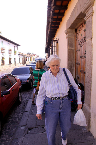 One must be careful walking on the sidewalks of Antigua, they are narrow and very uneven.  Sometimes even with the street and sometimes 12 to 18 inches high.