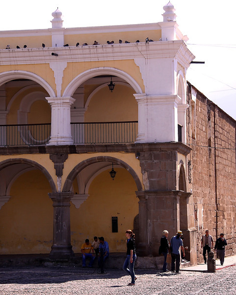 On the Square in Antigua.  Go to the Large size and see all the pigeons