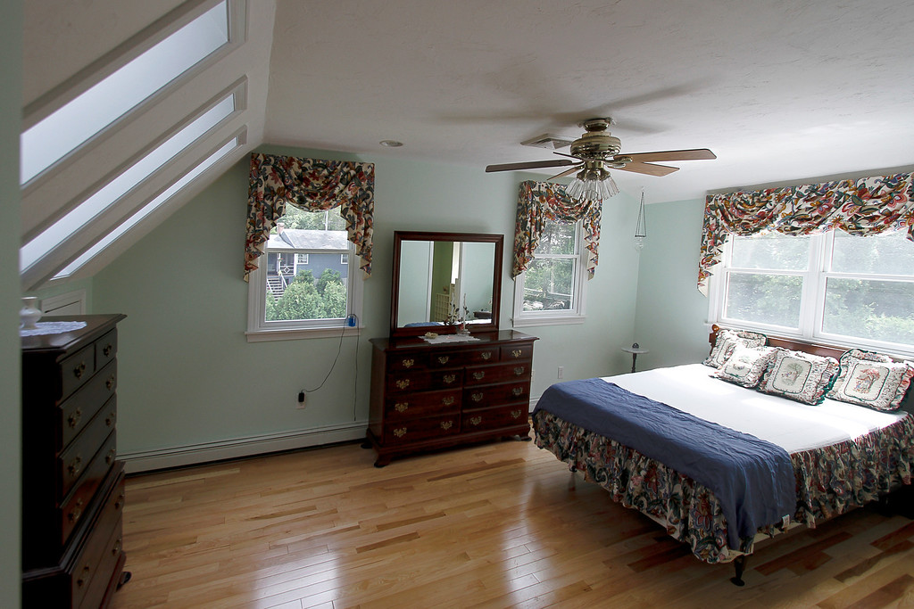 Main bedroom with skylights