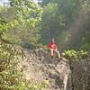 Bert doing the macho thing and climbing some rocks