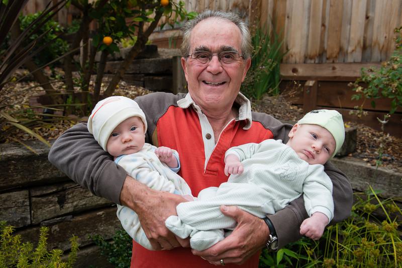 Grandpa Gary (aka Obi) with Thor & Hulk