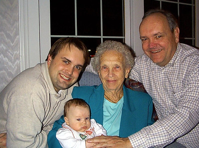 November 21, 2000 (Thanksgiving visit / Manchester, Saint Louis County, Missouri) -- Michael, James, Vera & David