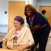 August 29, 2014 - (Missouri Veteran's Home / Bellefontaine Neighbors, Saint Louis County, Missouri) -- Christy behind Vera