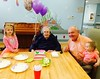 April 16, 2015 [Vera's Birthday] - (Missouri Veteran's Home / Bellefontaine Neighbors, Saint Louis County, Missouri) -- Ada, Vera, David, and Cora