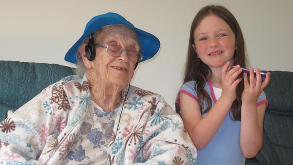 May 11, 2012 - (Missouri Veteran's Home / Bellefontaine Neighbors, Saint Louis County, Missouri) -- Vera & Katherine