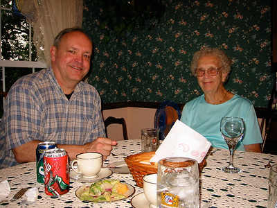 June 21, 2002 (David's house / Manchester, Saint Louis County, Missouri) -- David & Vera before Andrew's Wedding