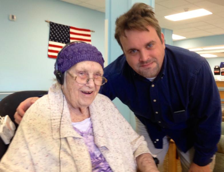 August 29, 2014 - (Missouri Veteran's Home / Bellefontaine Neighbors, Saint Louis County, Missouri) -- Vera and Michael