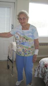 April 16, 2011 [Birthday] - (Autumn View Gardens / Ellisville, Saint Louis County, Missouri) -- Vera wearing her new birthday presents
