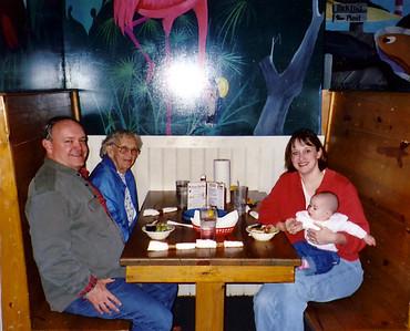 January 20, 2004 - (Gilligan's Restaurant / Summerville, Dorchester County, South Carolina) -- David, Vera, Cristen & Grace