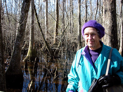 January 19, 2003 - (Francis Beidler Forest / Harleyville, Dorchester County, South Carolina) -- Vera on the nature boardwalk