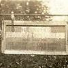 closeup of sign over Mrs. Skene's (Nono's) store in Brazil, IN.