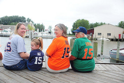 Tiger fans, can you tell?  Dove Rule, Meadow Sepke, Karen Chandler and Beverly Tromley...  Four generations of first born.