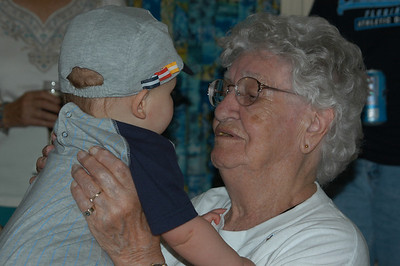 Marie Spear and her great grandson Jack David Cripping Rule
