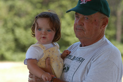 Willow Rule and her great-grandfather Ed Tromley