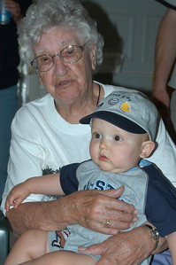 Marie Spear and her great-great-grandson Jack Rule