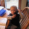 Matthew tries out the phone