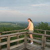 Becky on the Blue Mound lookout tower <br /> At Blue Mound State Park in WI