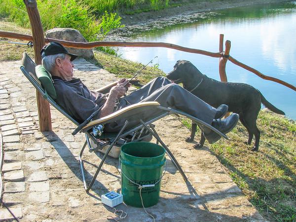 dad & Cody fishing