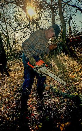 GL cuttin wood
