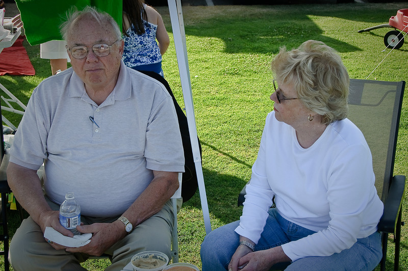 4th of July on Shelter with Grandpa and Aunt Pat