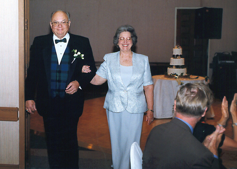 mom and dad at our wedding