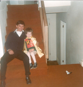 Haloween with George and Dad(George)