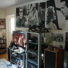 A bit of California in the great room. Our stereo equipment, tv, posters, autographs, and blu-ray collection.