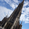 Tallest church steeple in the world, tilted,