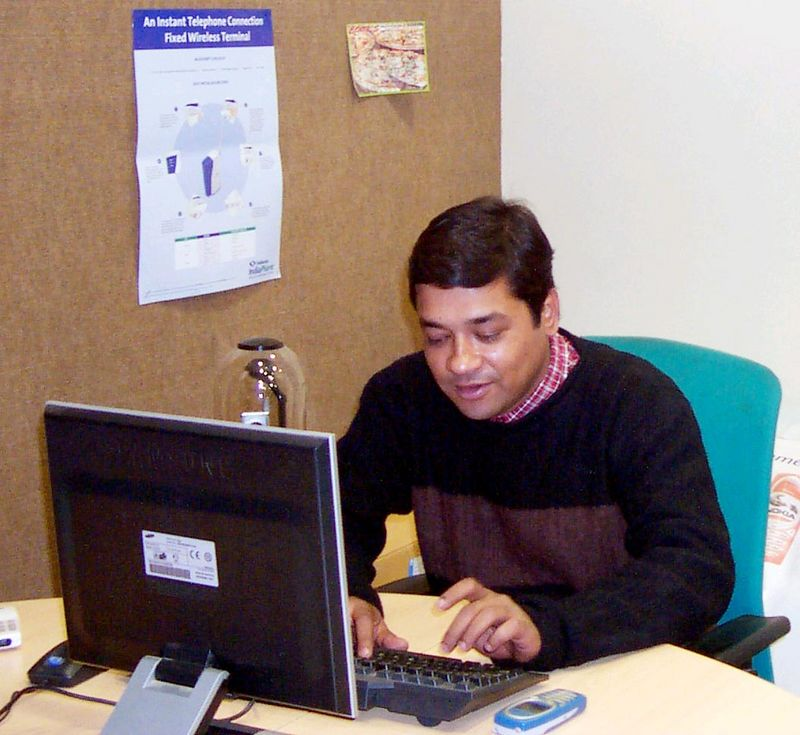 Samir Tikekar - My brother-in-law in his office