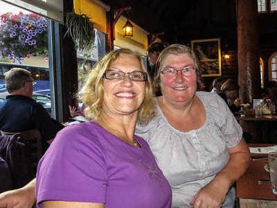 Carol and Gillian at Melissa's Missteak for dinner.