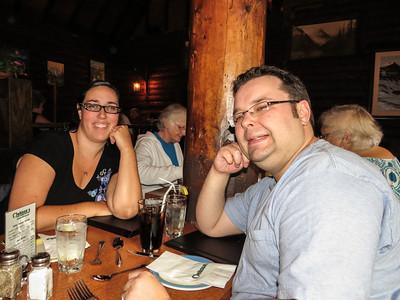 Tanis and Drew at Melissa's Missteak for dinner.