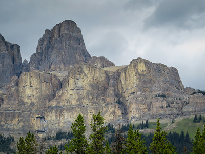 Close-up of Castle Mountain.