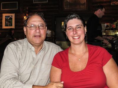 Morris and Carla at Melissa's Missteak for dinner.