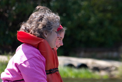 Kathy and Alice share something amusing...probably laughing at us in the paddle boat.